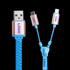Cina Samsung Iphone Zipper USB Data Cable Kecepatan Tinggi USB 2.0 Data Transfer Rates pemasok