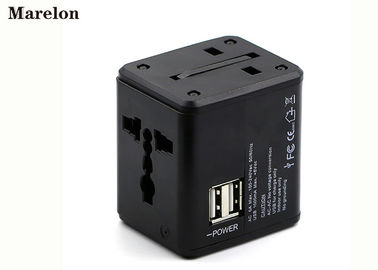 Dual USB Port Travel Power Adapter Fire Retardant ABS Housing Fast Charging