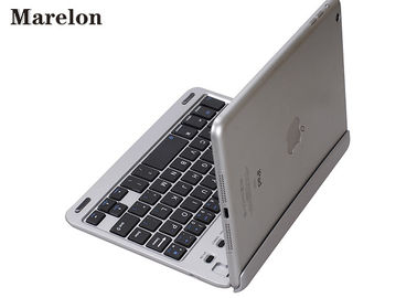 Silver Folding Ipad Air Keyboard Case / PU Leather Case ABS Bottom Material