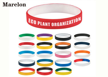 Multi Color Wristband Custom Silicone Bracelet Dengan Logo Screen Printing