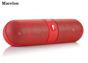 Cina Hands Free Music Speaker Bluetooth Pill Dual Subwoofer Drivers Dengan Radio FM pabrik