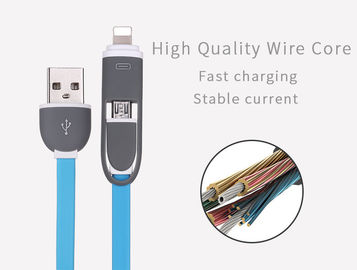 Cina 2 In 1 Multi Penggunaan Mobile Phone Micro Usb Cable Untuk Iphone Android Cable Charger pabrik