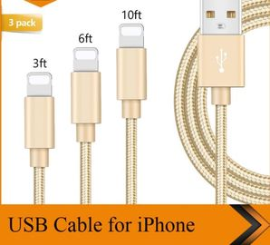 Cina 3FT 6FT 10FT USB Kabel Data Charger Kabel iPhone 1m 1.8m 3m Panjang Disesuaikan pabrik